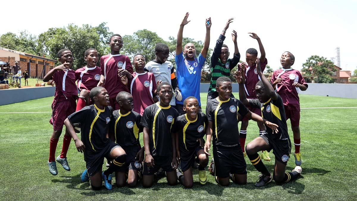 SuperSport Let's Play, Warner Bros. and MGM  hand over multi-purpose pitch to Thuthuka Primary School in Tembisa